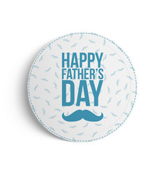 Happy fathers day festive banner template vector