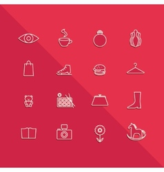 Icons mall set vector image vector image