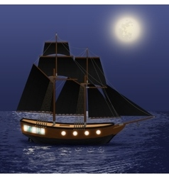 Night Sea Background vector image