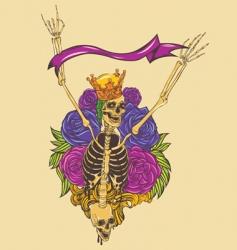 skeleton skull illustration vector image
