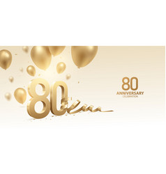 80th anniversary celebration background vector