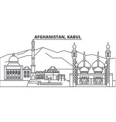 Afghanistan kabul line skyline vector