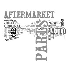 After market parts explained text word cloud vector