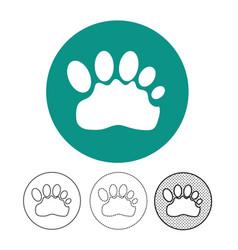 animal footprint icon vector image