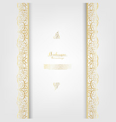 Arabesque abstract element classic gold background vector