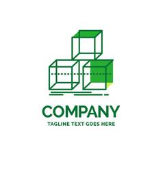 Arrange design stack 3d box flat business logo vector