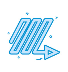 arrow down right ups icon design vector image