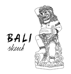 Bali sketch Barong - balinese god Traditional vector