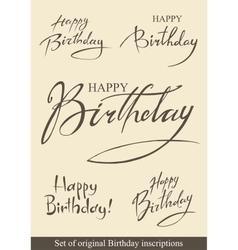 Birthday inscriptions vector