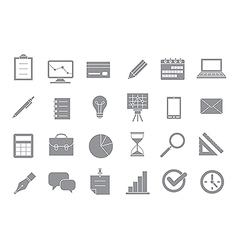 Business gray icons set vector image vector image