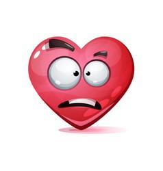cartoon character heart love smiley vector image
