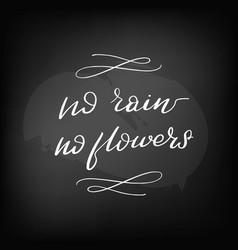 chalkboard blackboard lettering no rain vector image