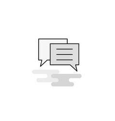 chat bubble web icon flat line filled gray icon vector image