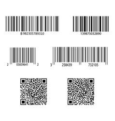 Code bar barcode for scan qr sticker scanner vector