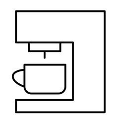 Coffee machine thin line icon coffee maker vector