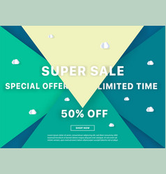 colorful sale background vector image