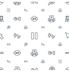 Computer icons pattern seamless white background vector