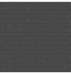 Dark seamless brick wall vector image