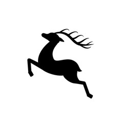 deer silhouette black monochrome icon isolated vector image