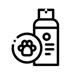 Dog care spray icon outline vector