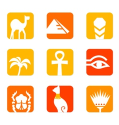 egypt icons vector image