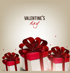 Elegant background with gift boxes vector