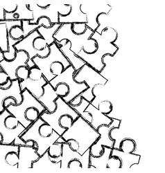 Figure puzzle pieces game background design vector