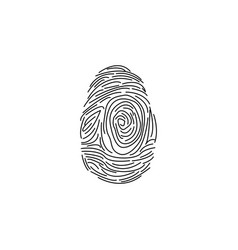 fingerprint icon black on whi vector image