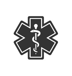 First aid medical emergency symbol vector