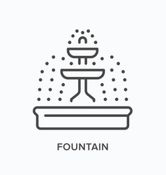 fountain flat line icon outline vector image