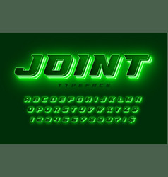futuristic dynamic alphabet extra glowing space vector image