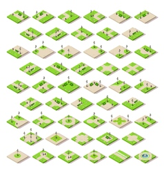 Game Set 14 Building Isometric vector image vector image