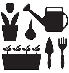 Garden sil set vector