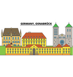 Germany osnabruck city skyline architecture vector