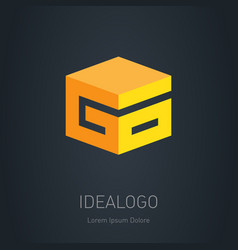 go - initial 3d logo design element or 3d icon g vector image
