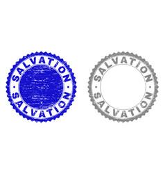 Grunge salvation scratched stamps vector