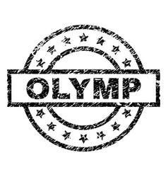 Grunge textured olymp stamp seal vector