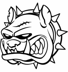 Head a bulldog vector