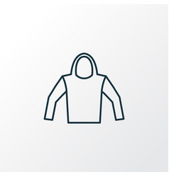 Hoodie outline symbol premium quality isolated vector