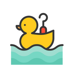 Hook a duck icon filled outline style editable vector