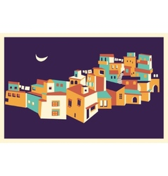 House set Asian night city vector image