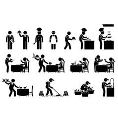 icons for workers employees and customers at vector image
