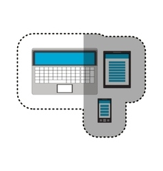 Isolated laptop tablet and smartphone design vector