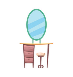 Isolated object of furniture and apartment icon vector
