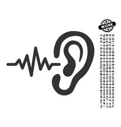 Listen icon with people bonus vector