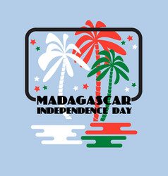 Madagascar independence day greeting card vector