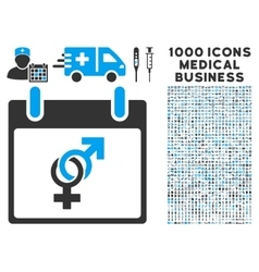 Marriage Calendar Day Icon With 1000 Medical vector