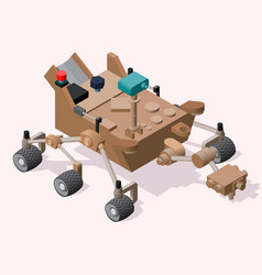 Mars rover isometric icon or vector