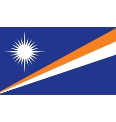 Marshall Islands flag image vector image