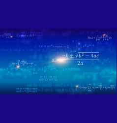 Mathematical formulas abstract blue background vector
